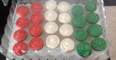 cupcakes tricolori